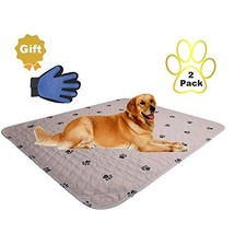 SincoPet Washable Dog Pee Pads + Free Puppy Grooming Gloves,Puppy Pads,R... - $42.30
