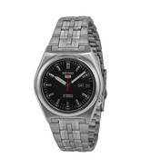 Seiko 5 Mechanical Automatic Mens Retro day date black dial SNk649 - $69.37