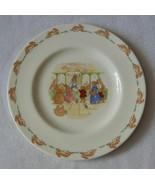 "Royal Doulton Bunnykins 8"" Salad Plate Albion Shape Posting Letters EC - $22.99"