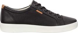 ECCO Shoes 180 Black Men's 7 Soft NEW Leather Sneaker TWqPfOT