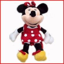 "Disney Plush Classic Minnie Mouse Red Polka Dot Dress 15"" Toy Doll - $15.31"