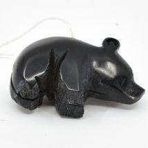 Hand Carved Tagua Nut Carving Small Black Bear Ornament Handmade in Ecuador image 4