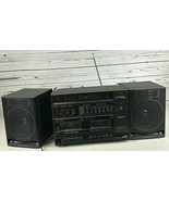 Sanyo C33 Boombox Ghettoblaster Dual Tape Deck AM/FM Radio Tested Vintag... - $222.22