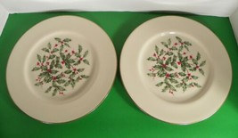 Lenox PRESIDENTIAL SPECIAL Dinner Plate (s) LOT OF 2 Holiday Large Holly... - $39.55