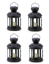 4 Black Colonial Style Candle Holders Hanging Lantern Lamp - $22.99