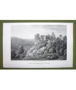 GERMANY Saxony Hardenberg Castle at Gottingen- 1820s Copper Engraving Cp... - $7.65
