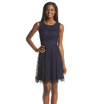 Jessica Simpson Open-Back Lace Fit & Flare Dress NAVY SIZE 12 - $29.70