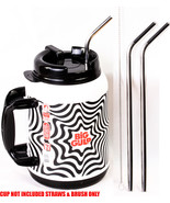 """2 Big Gulp 11.5"""" JUMBO Stainless Steel Straw for 64oz LONG Drinking Wide - $7.91"""