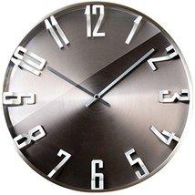 "Momenti - Luxury Modern 13.8"" Iron Gray Wall Clock, Stylish & Slient, Interior f"