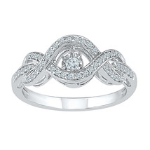 10k White Gold Round Diamond Moving Twinkle Solitaire Wedding Engagement... - $413.00