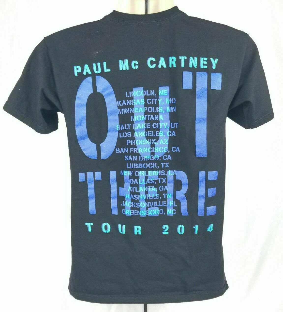 Mens Paul McCartney Out There Tour 2014 Concert T-Shirt Size Small 100% Cotton image 2