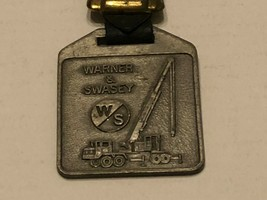 Vintage Watch Fob with Leather Strap - Warner & Swasey - $30.00
