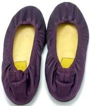 LANVIN HIVER 2007 Women's Satin Ballet Flat Purple Size 37 Plum Leather ... - $79.20