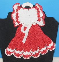VINTAGE CROCHET COTTON DOILY BABY'S DRESS DECORATIVE WALL HANGING - $14.36