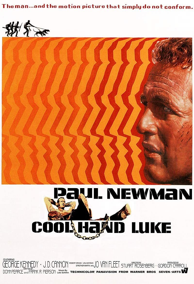 Cool Hand Luke Poster 24x36 Paul Newman 1967 Psychedelic 61x90 cm