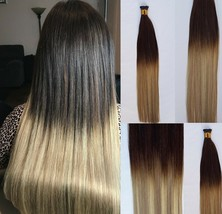 """18"""" 100grs,125s,I Tip (Stick Tip) Fusion Remy Human Hair Extensions #T2-18/613 - $98.99"""