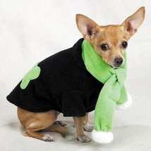 Casual Canine Chilly Day Bone Fleece Jacket with Scarf  SMALL - $6.95