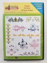 Amazing Designs Machine Embroidery Design CD ~ Simply Heirloom ~ Multi-F... - $17.72