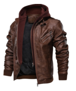 Motorcycle Leather Jacket for Men - $69.99