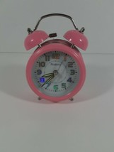 Pink Peakeep Alarm Clock Tested Bell Battery Powered MHP3125 Cute Pinky ... - $21.46