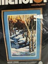 Dimensions Needlepoint Kit Snowy Stream #2305 RARE Sealed Vintage 1986 1... - $59.39