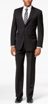 Tommy Hilfiger Black Athletic-Fit Suit, Keene8, Size L48, W40 - $316.79