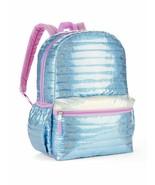 """Wonder Nation Blue Shimmer 16"""" Quilted Backpack, School Bookbag - $19.55"""