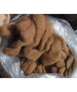 100% Huacaya Alpaca Roving Medium & Light Fawn Blend - $65.00