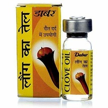Dabur Clove Oil Toothache Oral Pain RELIEF//REFRESH Mouth - 2 Ml (Pack Of 5) - $9.14