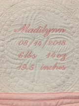 Monogrammed Baby Quilt - $45.00