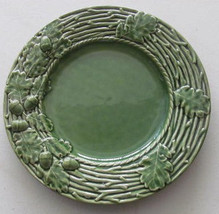 Bordella Pinheiro Green Collectible Oak Leaf Pattern Large Dinner Plate ... - $45.99