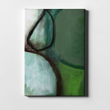 """Green Abstract By Woods Giclee Canvas Wall Art, 26"""" X 40"""", Rary - $57.99"""