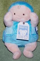 "North American Bear Rosy Cheeks Overall Baby Boy Plush Doll 9"" NWT - $15.88"