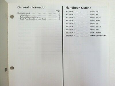 1994 Force Outboards Technicians Handbook Manual WATER DAMAGED WORN OEM image 3