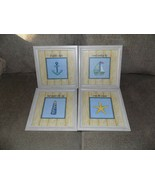 HOME INTERIORS ROMA DOWNEY NAUTICAL 4 LITTLE SHIPS......... SET OF 4 PIC... - $44.88