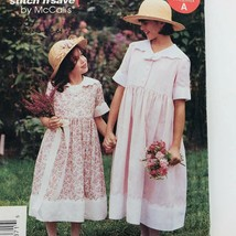 Vintage Uncut Girls Dress Sewing Pattern Easy McCalls Size 2 3 4 5 6 199... - $11.76