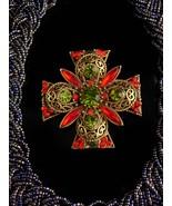 Vintage rhinestone Cross choker / statement necklace / emmons Rhinestone... - $155.00