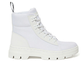 Dr. Martens Combs Women Poly Casual Boots Tech Utility White Shoes Size 25102100 - $149.99