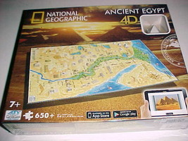 National Geographic Ancient Egypt 4D Cityscape Time Puzzle 650 22 x 14.6... - $29.69