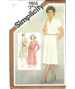 Simplicity Pattern 9865 Misses' Pullover Dress Size 10 Sleeve Variations... - $7.18