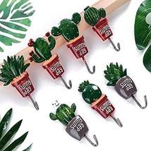 Cactus Plant Decor Hook, Handmade Nopal Cactus Wall Hooks Hanger for Coa... - €9,18 EUR