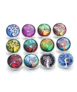 10pcs/lot Mixed tree of Life Pattern&Styles Charms 12mm 18mm 20mm Glass ... - $8.02