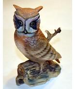 Signed Royal Crown Hand Painted Porcelain Owl Bird Figurine Japan vintage - $10.00