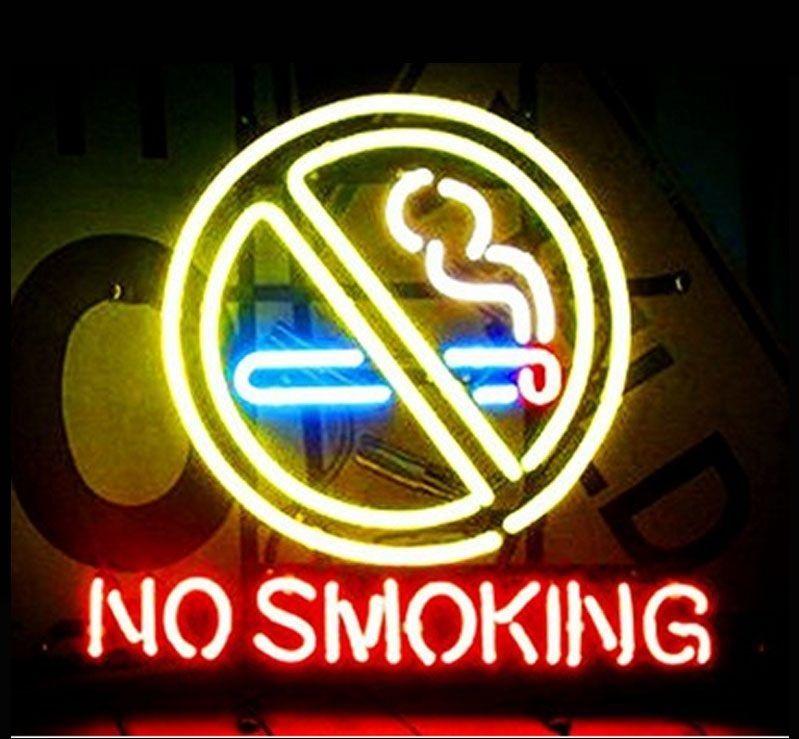 "New No Smoking Logo Neon Sign 24""x20"" Ship From USA"