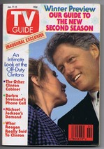ORIGINAL TV Guide January 9 1993 No Label Bill & Hillary Clinton 1st Cover - $19.79