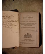 1882 antique miniature pocket Bible - Unusual cover - Donald sutherland ... - $125.00