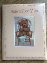 Hallmark Baby'sFirst Year Teddy Bear Memory Book Photo Album Rubber duck... - $14.53