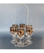 Dorothy Thorpe Silver Band Wine Glass Caddy Fade Mid Century Vitreon Queen - $64.30