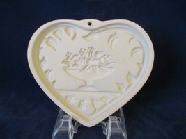 Pampered Chef Come to the Table Heart Cookie Mold Baking Stone 1999 Pre ... - $12.00