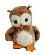"R Dakin & Co 1975 Stuffed Owl Plush 7"" Toy Crushed Nutshells Vintage Brown - $22.04"